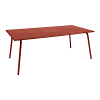 Table haute MONCEAU de Fermob, 194x94x74, ocre rouge