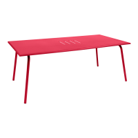 Table haute MONCEAU de Fermob, 194x94x74, Rose praline