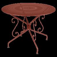 Table MONTMARTRE de Fermob D.96 Ocre rouge