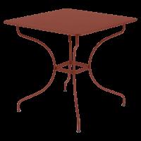 Table carrée OPÉRA de Fermob, ocre rouge