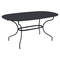 Table ovale 160x90 OPÉRA + de Fermob, Carbone