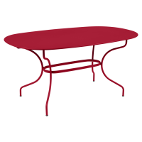 Table ovale 160x90 OPÉRA + de Fermob, Piment