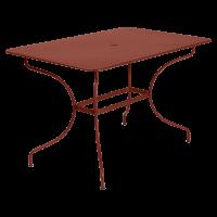 Table rectangulaire OPÉRA de Fermob, ocre rouge