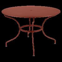 Table ronde OPÉRA D.96 ou D.117 cm de Fermob, D. 117, ocre rouge