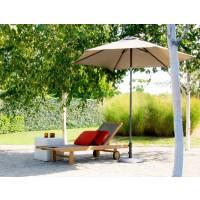 Parasol MALIBU de Jardinico, Mât anthracite avec toile taupe