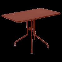 Table rabattable PÉTALE de Fermob 110 cm, ocre rouge