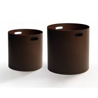 Cache-pot IRONY OUTDOOR de Zeus, 60 cm, Marron