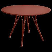 Table ronde RENDEZ-VOUS de Fermob, ocre rouge