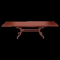 Table à allonges ROMANE Fermob, ocre rouge