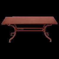 Table ROMANE 180 cm de Fermob, ocre rouge