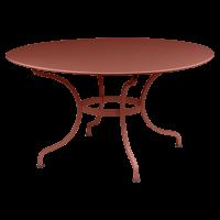 Table ronde D.137 ROMANE de Fermob, ocre rouge