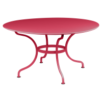 Table ronde D.137 ROMANE de Fermob, Rose praline