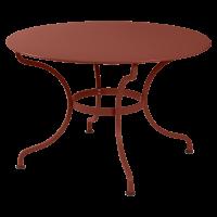 Table ronde ROMANE 117 cm de Fermob, ocre rouge