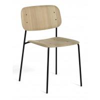 Chaise SOFT EDGE 10 de Hay, Soft black seat, Black base