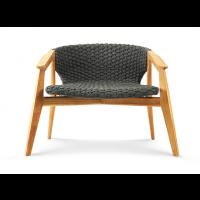 Chaise longue KNIT de Ethimo, Teck naturel