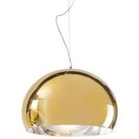 Lampe FL/Y métallisée de Kartell, 2 tailles, 3 coloris