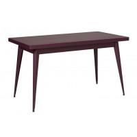 Table 55 de Tolix, Aubergine, 130 x 70