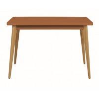 Table 55 Haute Pieds en Bois de Tolix, Terracotta