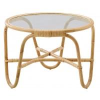Table basse avec plateau en verre CHARLOTTENBORG de Sika Design, Naturel