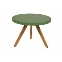 Table basse ronde K17 inox de Tolix, Ø 60cm, Romarin