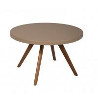 Table basse ronde K17 inox de Tolix, Ø 80 cm, Muscade