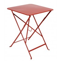 Table carrée BISTRO 57x57 coquelicot de Fermob