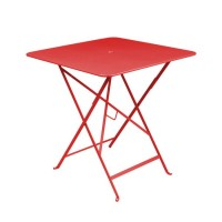 Table carrée BISTRO 71x71 coquelicot de Fermob