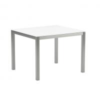 Table en verre TABOELA 100 x 90 de Royal Botania, Blanc
