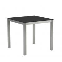 Table en verre TABOELA 80 x 80 de Royal Botania, Noir