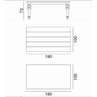 Table GRAY de Gervasoni plateau ardoise et pieds porcelaine 180 cm 34 CR