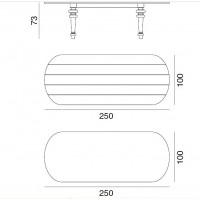 Table GRAY de Gervasoni plateau ardoise ovale et pieds chêne blanc 250 cm 37 LG