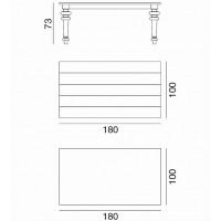 Table GRAY de Gervasoni plateau marbre et pieds chêne naturel 180 cm 34 LG