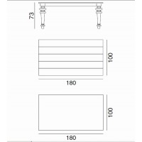 Table GRAY de Gervasoni plateau noyer et pieds chêne gris 180 cm 34 LG