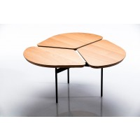 Table Miss Trèfle de Airborne, Ø69, Chêne massif