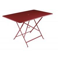 Table rectangulaire 117 x 77 cm BISTRO de Fermob, ocre rouge