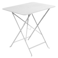 Table rectangulaire 77 x 57 cm Bistro de Fermob, Blanc coton