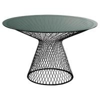Table ronde HEAVEN de Emu, 120 cm, Noir / Verre Fumé