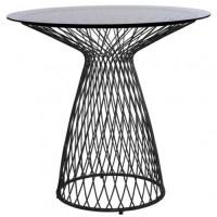 Table ronde HEAVEN de Emu, 80 cm, Noir / Verre Fumé