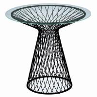 Table ronde HEAVEN de Emu, 80 cm, Noir / Verre transparent