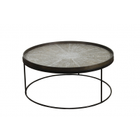 Table basse ROUND Extra Large de Ethnicraft Accessories, Ø93 x H.38