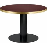 Table 2.0 de Gubi, base noire, Ø110, Verre rouge