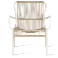 Chaise lounge LOOP de Vincent Sheppard, Beige et blanc