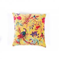 Coussin en coton 45 x 45 CM BIRDY de Harmony, 3 coloris