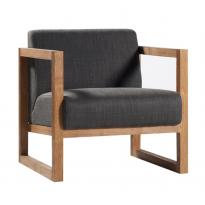 Fauteuil bas SQUARE ROOT d'Ethnicraft
