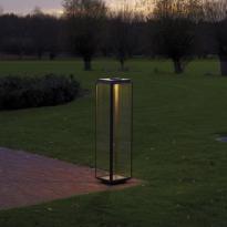 Lumignon Nautic ILFORD XL FLOOR - LED bronze patine foncé verre clair