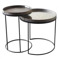 Set Round Tray tables hautes de Notre Monde, H.66/57