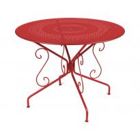Table MONTMARTRE de Fermob D.96 ou D.117 cm, 23 coloris