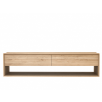 Meuble TV OAK NORDIC d'Ethnicraft, 1 porte abattante / 1 tiroir, L.180