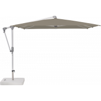 Parasol déporté SUNWING® CASA de Glatz, Structure anodisé naturel, 270 x 270 cm, 461 Taupe