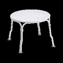 Table basse 1900 de Fermob, Blanc coton